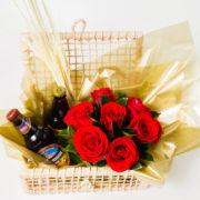 cesta de rosas e cerveja 5