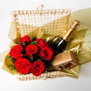 cesta rosa vinho e chocolate 10