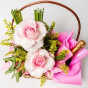 cesta rosas colombianas e chandon 7