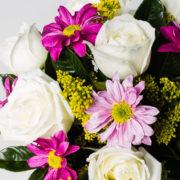 flores arranjo rosa branca margarida pink 2_1