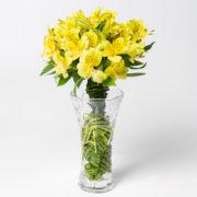 flores atromelia amarela vaso 2