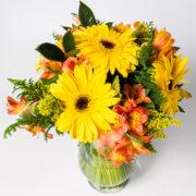 flores atromelia gerbera amarela vaso 3