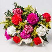 flores buque cravos colorido 2